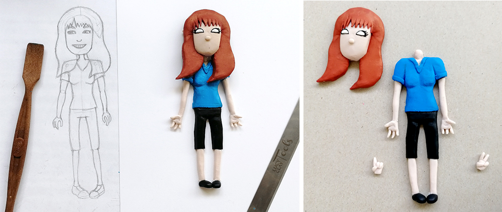 Lucy Clay Claire: Clay model